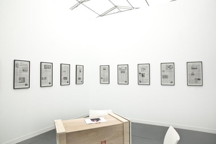 Frieze New York - Antonio Vega Macotela. Installation View, Steve Turner Contemporary, Booth R13, May 2012