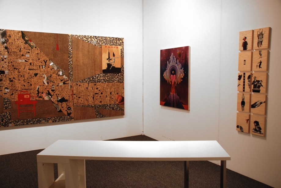 Installation View, featuring work by Deborah Grant and Pearl C. Hsiung at artLA 2009