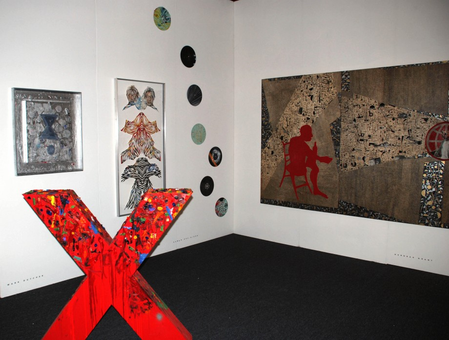 Installation View, featuring work by Mark Dutcher, Eamon Ore-Giron and Deborah Grant at artLA 2009