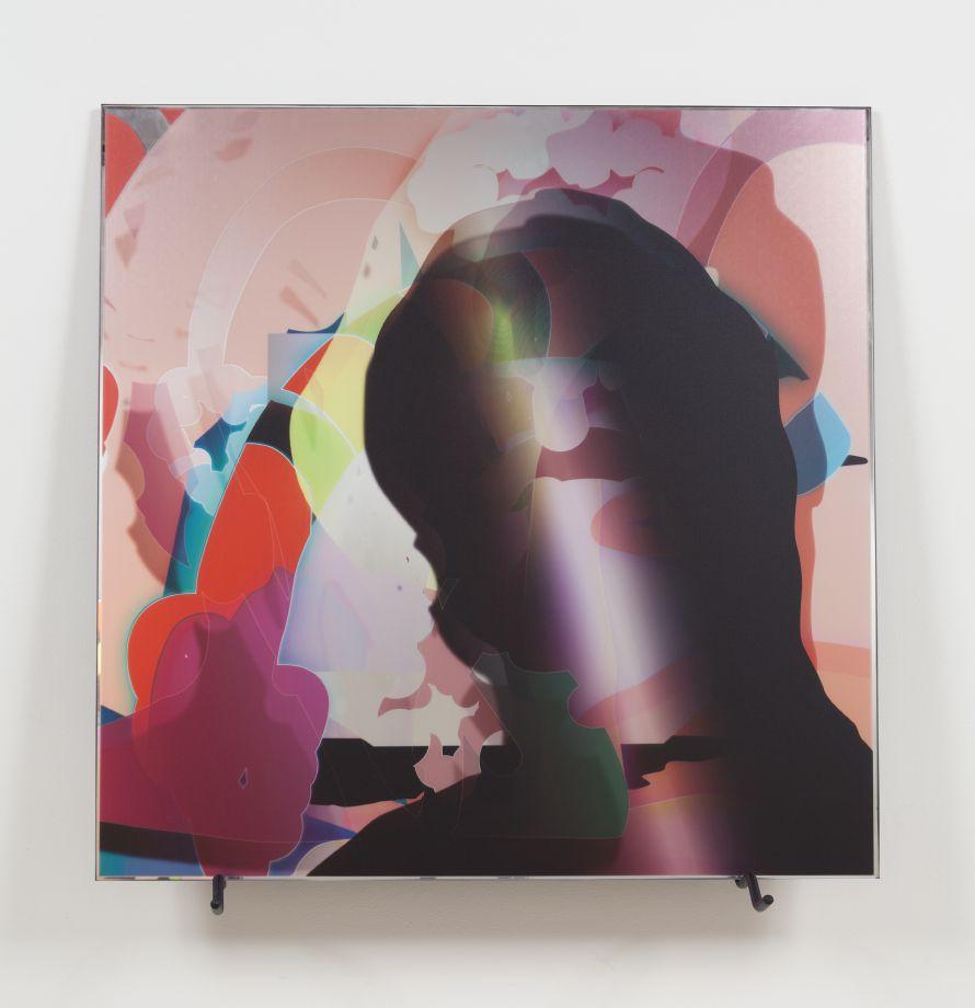 027_VL0 D0105, 2013. Digital print on mirror, 35 1/2 x 35 1/2 inches