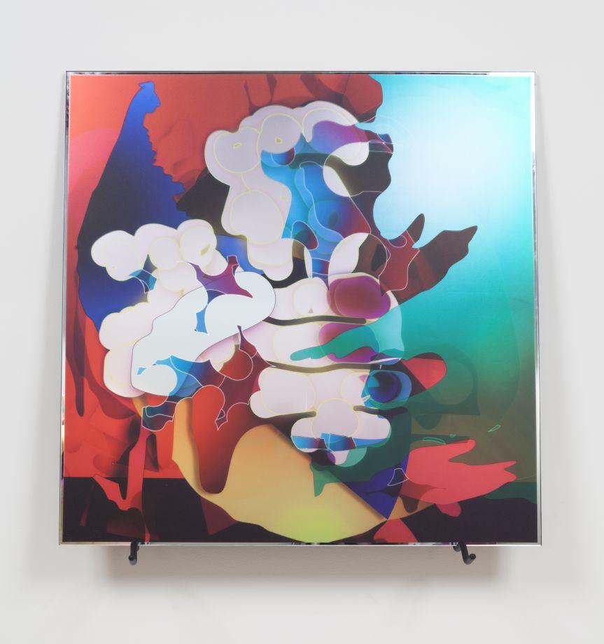021_VL0 D067, 2013. Digital print on mirror, 35 1/2 x 35 1/2 inches