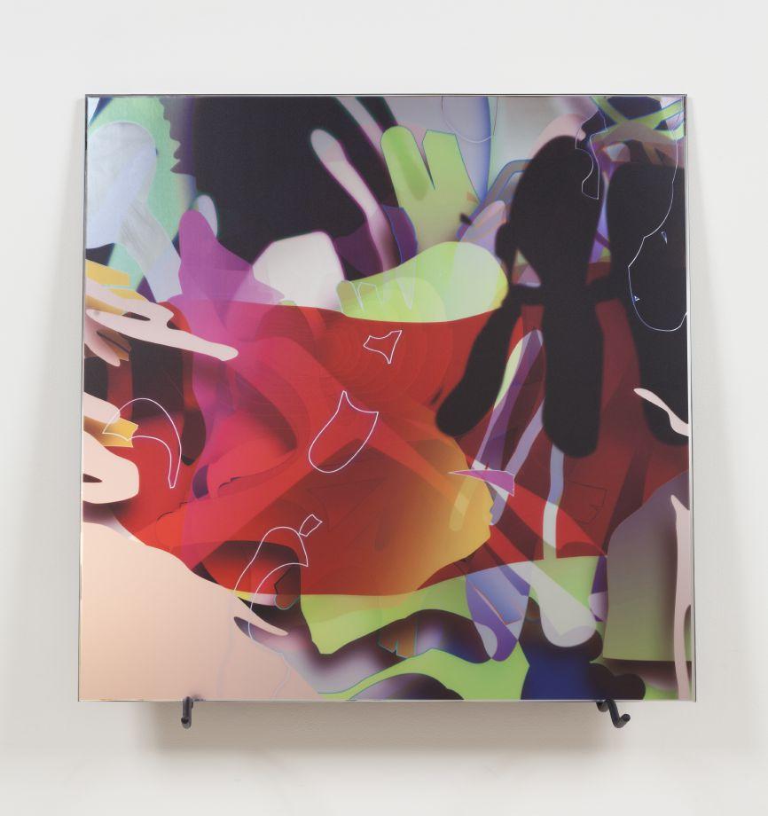 020_VL0 D078, 2013 Digital print on mirror 35 1/2 x 35 1/2 inches