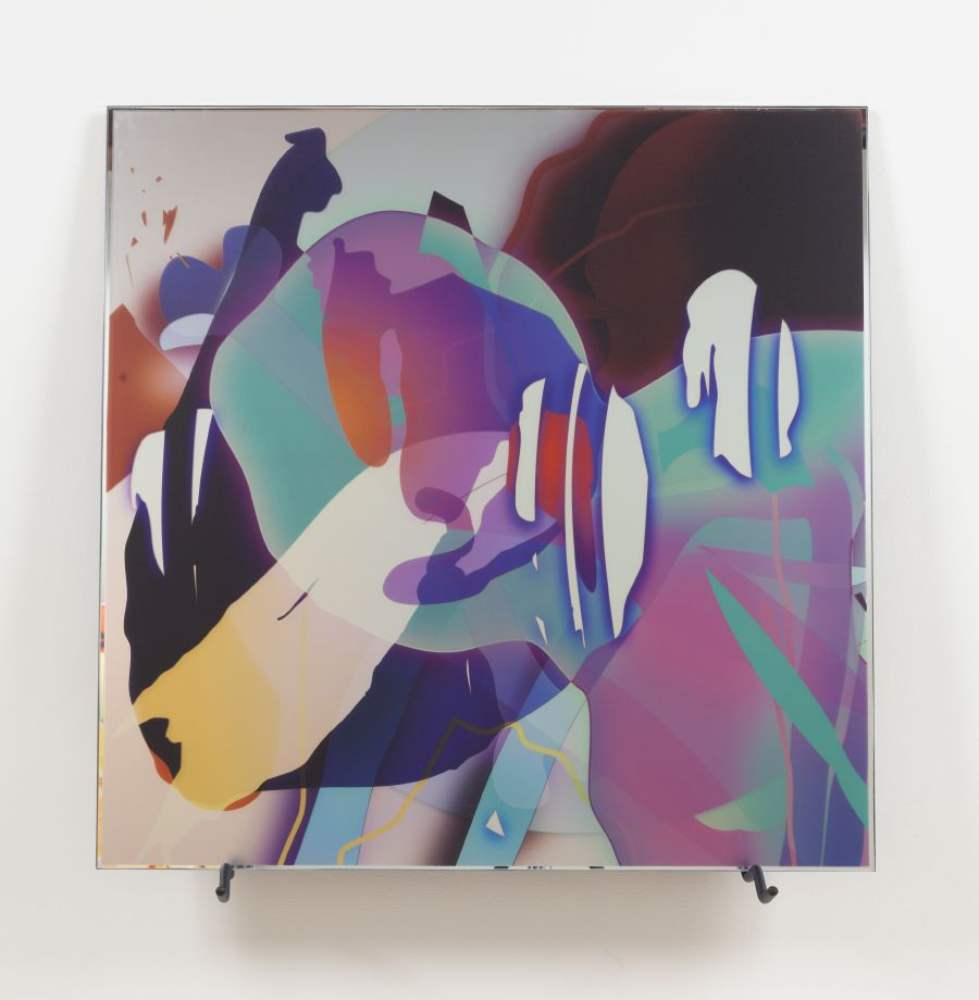 017_VL0 D066, 2013. Digital print on mirror, 35 1/2 x 35 1/2 inches
