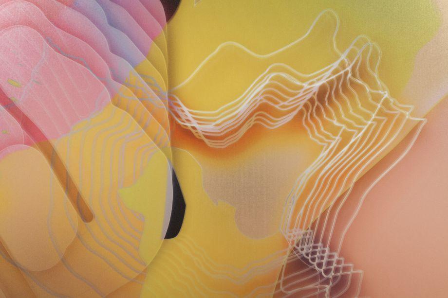 004_VL0 D083, 2013. Digital print on mirror, 35 1/2 x 35 1/2 inches (detail)
