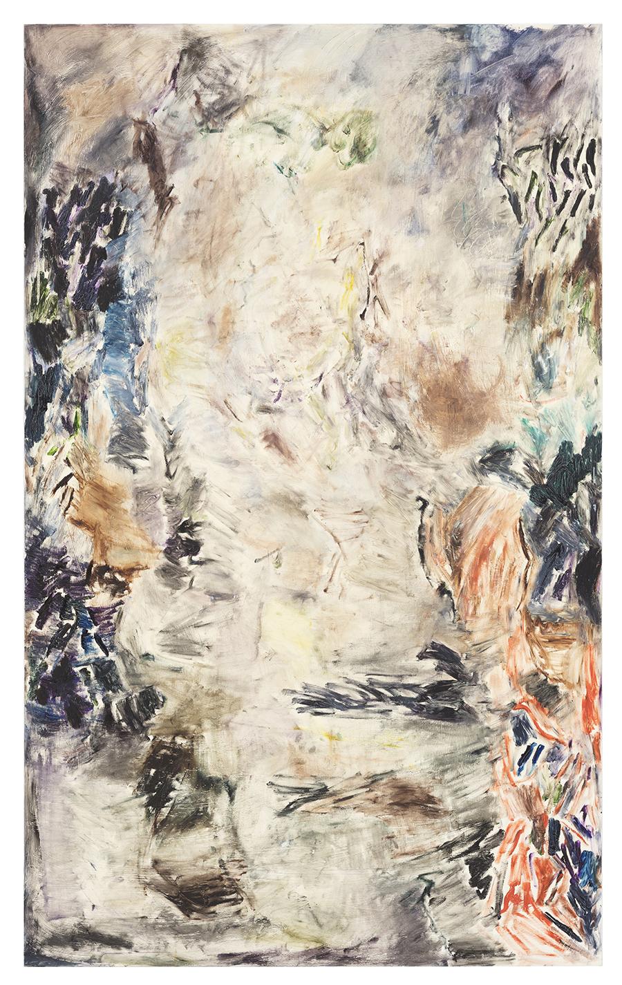 Joaquín Boz. <em>Some Lines</em>,2018. Oil on panel, 77 1/8 x 39 3/8 inches (196 x 100 cm)
