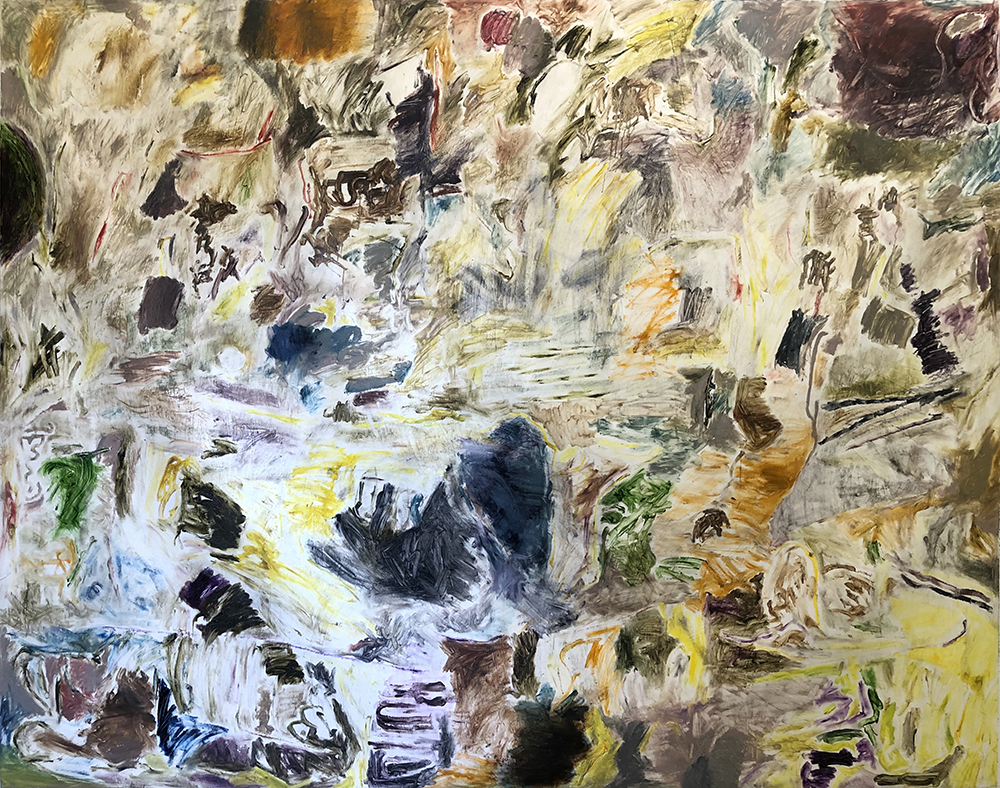 Joaquín Boz, Untitled, 2020 Oil on panel 74 x 93 3/4 inches (188 x 238 cm)