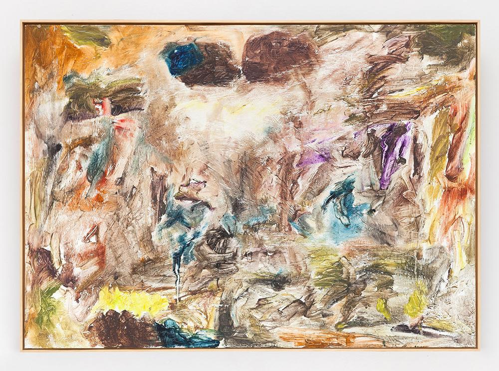Joaquín Boz. <em>Untitled</em>, 2020. Oil on panel, 17 3/8 x 24 1/8 inches (44 x 61.4 cm)