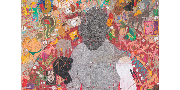 Camilo Restrepo, Steve Turner, Tight Rope, Colombian artist, work on paper