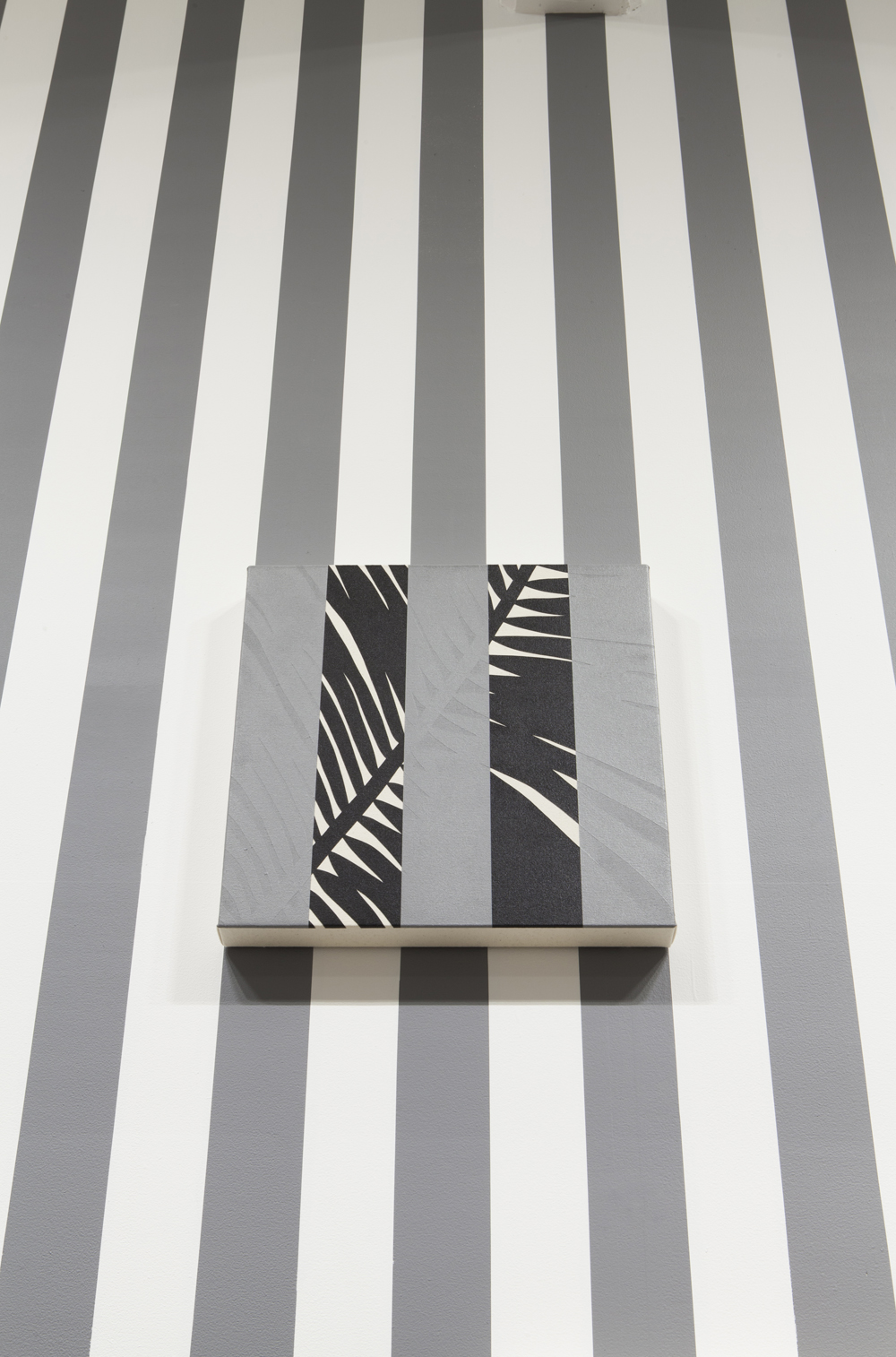 Otto Berchem, Tropical Buren, painting, conceptual painting, line painting, tropics, tropical plants, frieze stand prize,