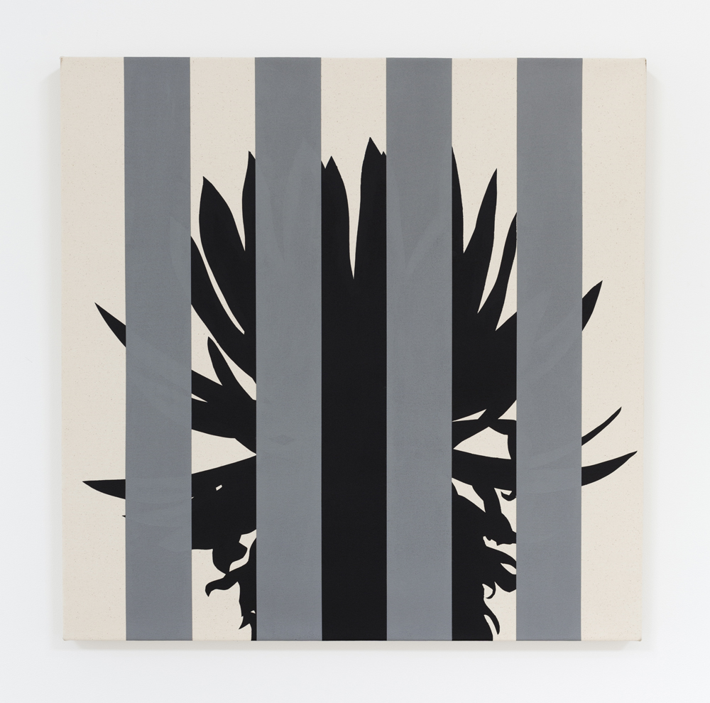Otto Berchem, Tropical Buren, painting, conceptual painting, line painting, tropics, tropical plants, frieze stand prize,