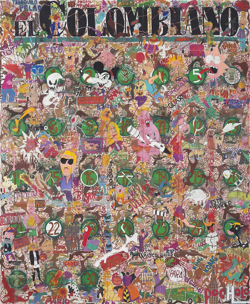 Art Bo, Feria Art Bo, Bogota art, Art Bogota, Art fair, El espectador, calendar, narco, narco art, Camilo Restrepo, Steve Turner, Los Angeles, Medellín, Colombia, Colombian artist, Tight Rope, pastel on paper, contemporary colombian artist, contemporary art Colombia, contemporary art gallery los angeles