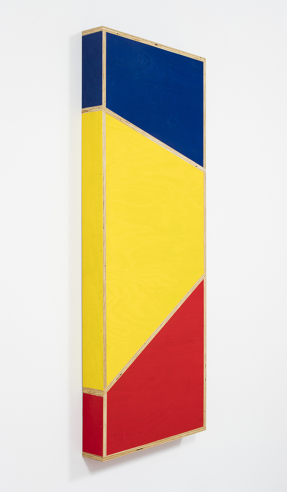 G.T. Pellizzi. <em>Transitional Geometry in Red, Yellow and Blue (Figure 33)</em>, 2016. Eggshell acrylic on plywood, 60 x 24 inches