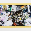 Joel Kyack and Lisa Anne Auerbach. <em>Dinner Table</em>, 2017. Inkjet print, duct tape, AP from an edition of 3 + 2 AP, 48 x 83 inches thumbnail