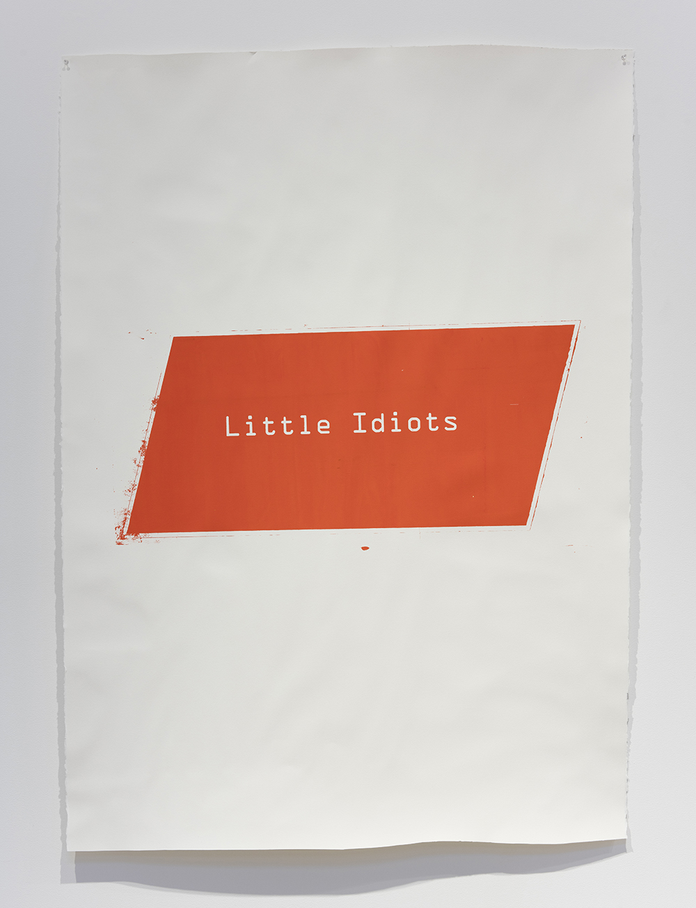 Kerry Tribe and Edgar Bryan. <em>Little Idiots</em>, 2017. Acrylic screen print on watercolor paper, 63 x 45 inches