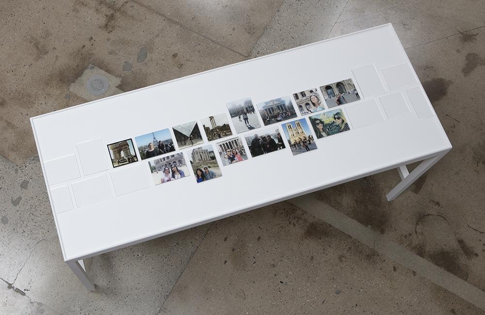 Émilie Brout & Maxime Marion. <em>Ghosts of Your Souvenir</em>, 2014-15. C-prints mounted to Dibond and plexiglass, 34 1/4 x 80 1/4 x 30 1/2 inches
