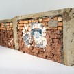 Ximena Garrido-Lecca. <em>Paredes de Progreso: Andino / Walls of Progress: Andean</em>, 2013. Mud, straw, cement, fired bricks and acrylic, 6 5/16 x 19 1/2 x 1 9/16 inches thumbnail