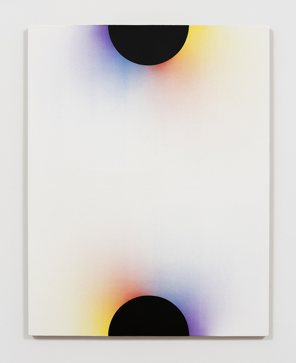 Adam Henry. <em>Untitled (4D3c2D)</em>, 2016. Synthetic polymers on linen, 31 x 24 inches
