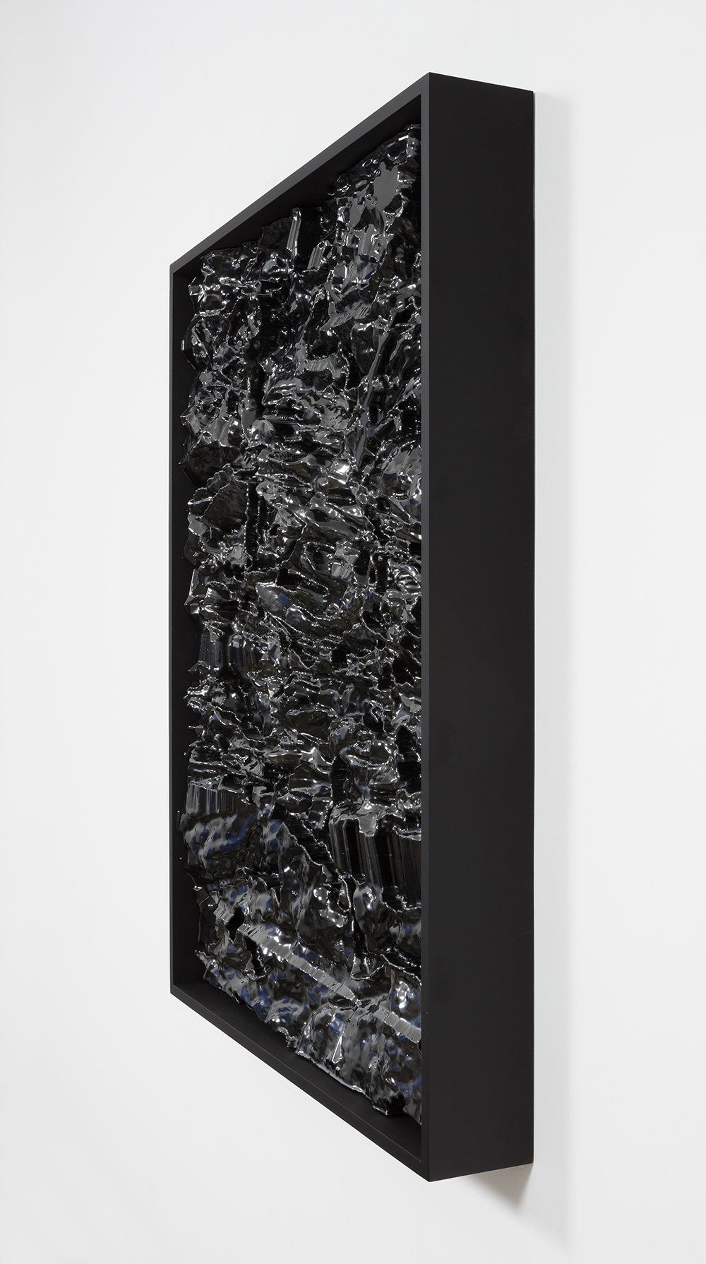 Michael Staniak. <em>OBJ_945</em>, 2016. Epoxy tooling paste, acrylic and urethane, wood frame, 48 x 36 inches