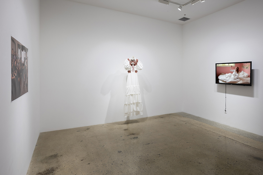 <em>ALAS I WAS CURED</em>. Installation view, Steve Turner, 2017