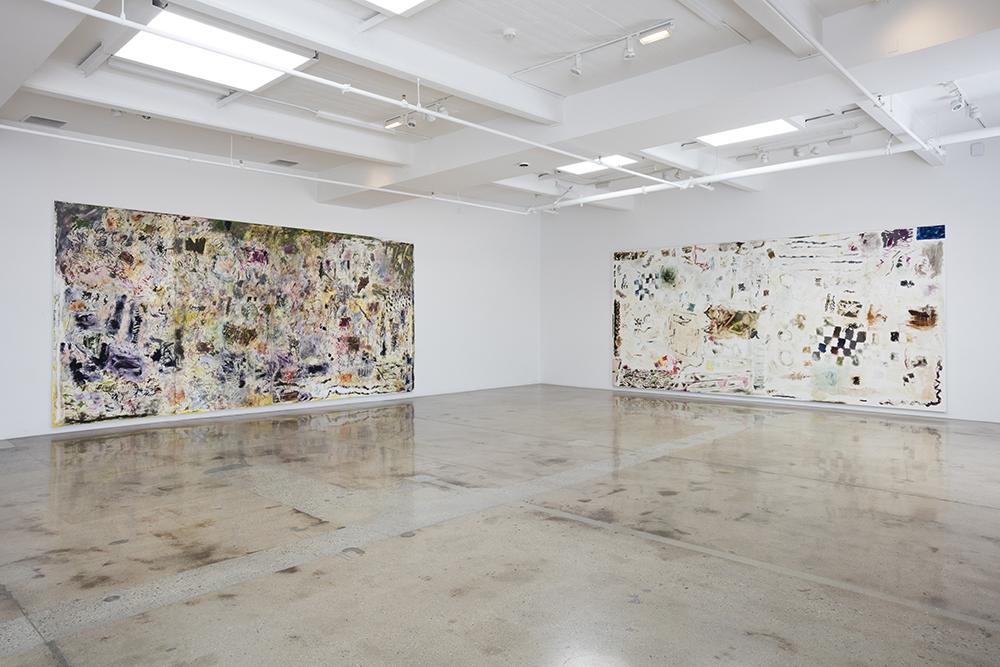 <em>New Work</em>. Installation view, Steve Turner, 2017