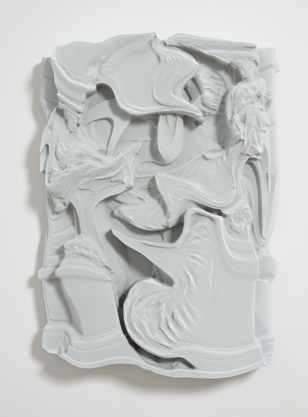 Michael Staniak. <em>OBJ_394</em>, 2017. Polyurethane resin and acrylic, 27 x 20 x 4 inches