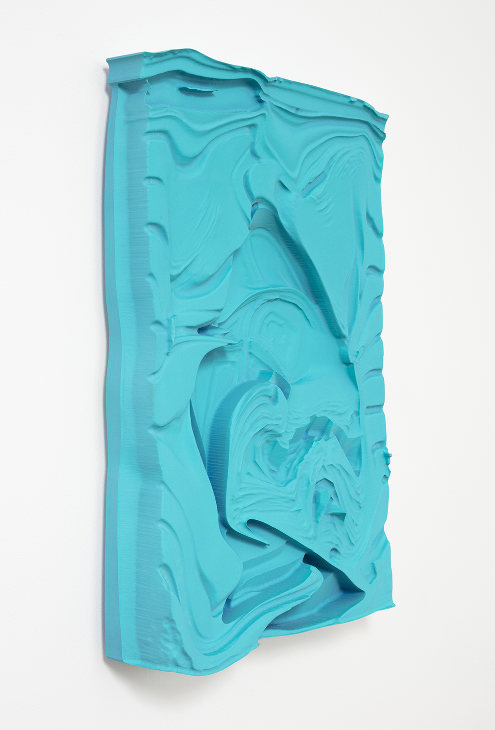 Michael Staniak. <em>OBJ_392</em>, 2017. Polyurethane resin and acrylic, 27 1/2 x 20 x 4 inches