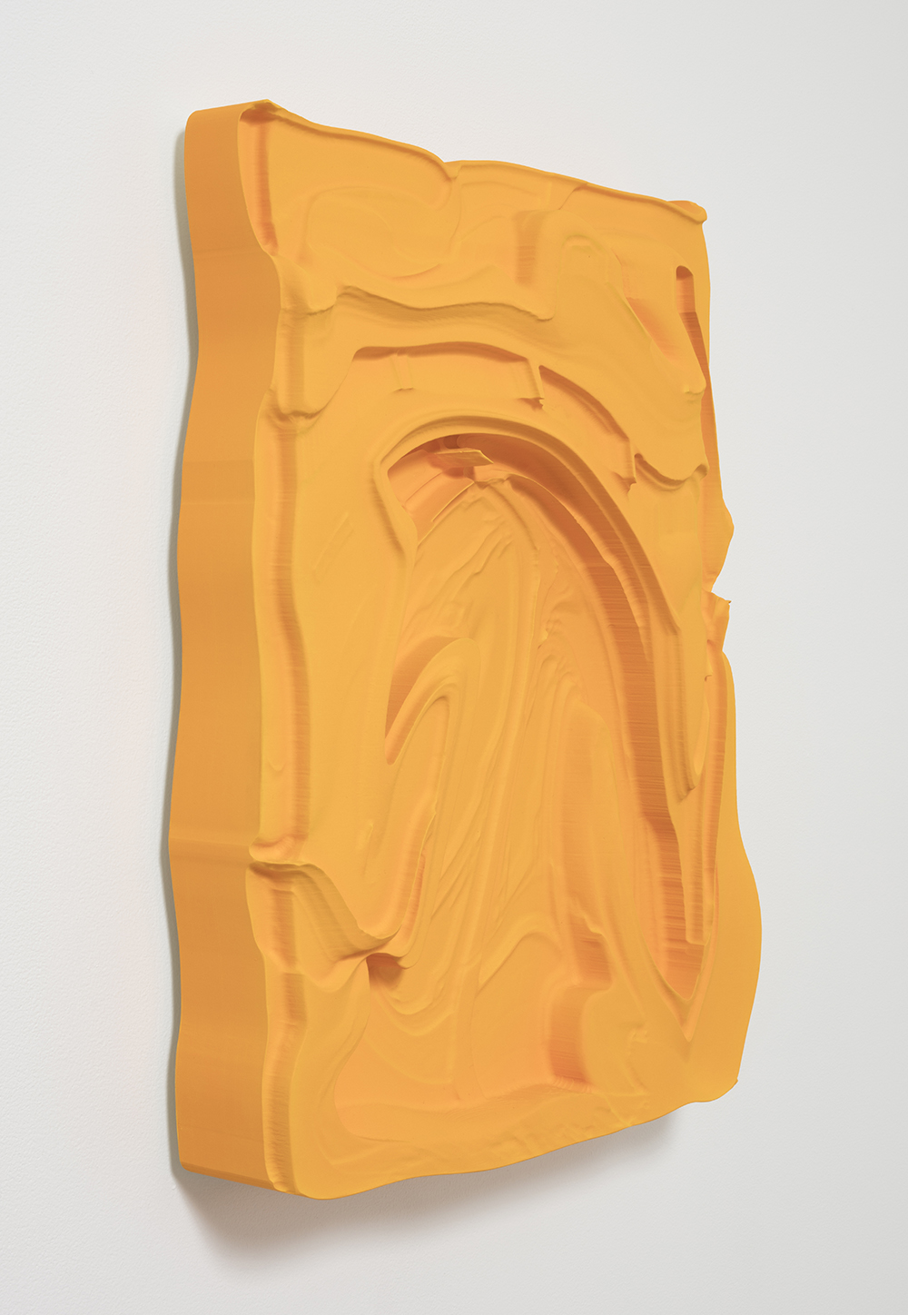 Michael Staniak. <em>OBJ_393</em>, 2017. Polyurethane resin and acrylic, 25 x 20 x 4 inches