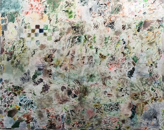 Joaquin Boz. <em>Untitled</em>, 2017. Oil on panel. 102 x 134 inches (259.1 x 340.4 cm)