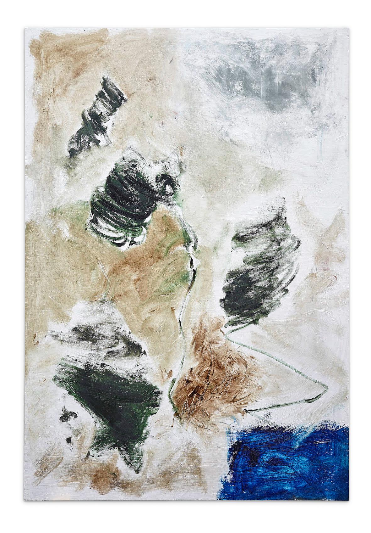 Joaquín Boz. <em>Untitled</em>, 2017. Oil on panel, 53 x 37 1/2 inches (134.6 x 95.3 cm)
