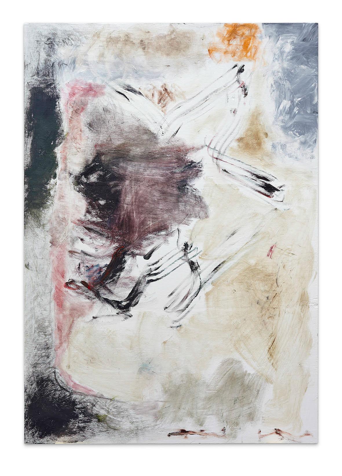 Joaquín Boz. <em>Untitledm</em>, 2016. Oil on panel, 53 x 37 1/2 inches (134.6 x 95.3 cm)