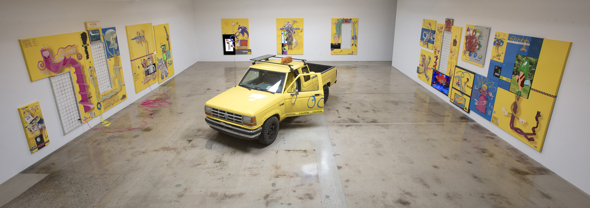 <em>Caution: Wet Floor</em>. Installation view, Steve Turner, 2017