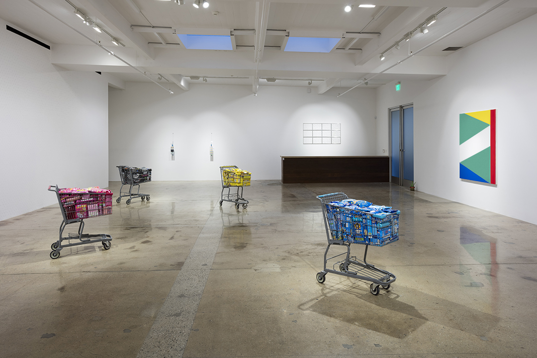 <em>Carne World Tour</em>. Installation view, Steve Turner, 2017