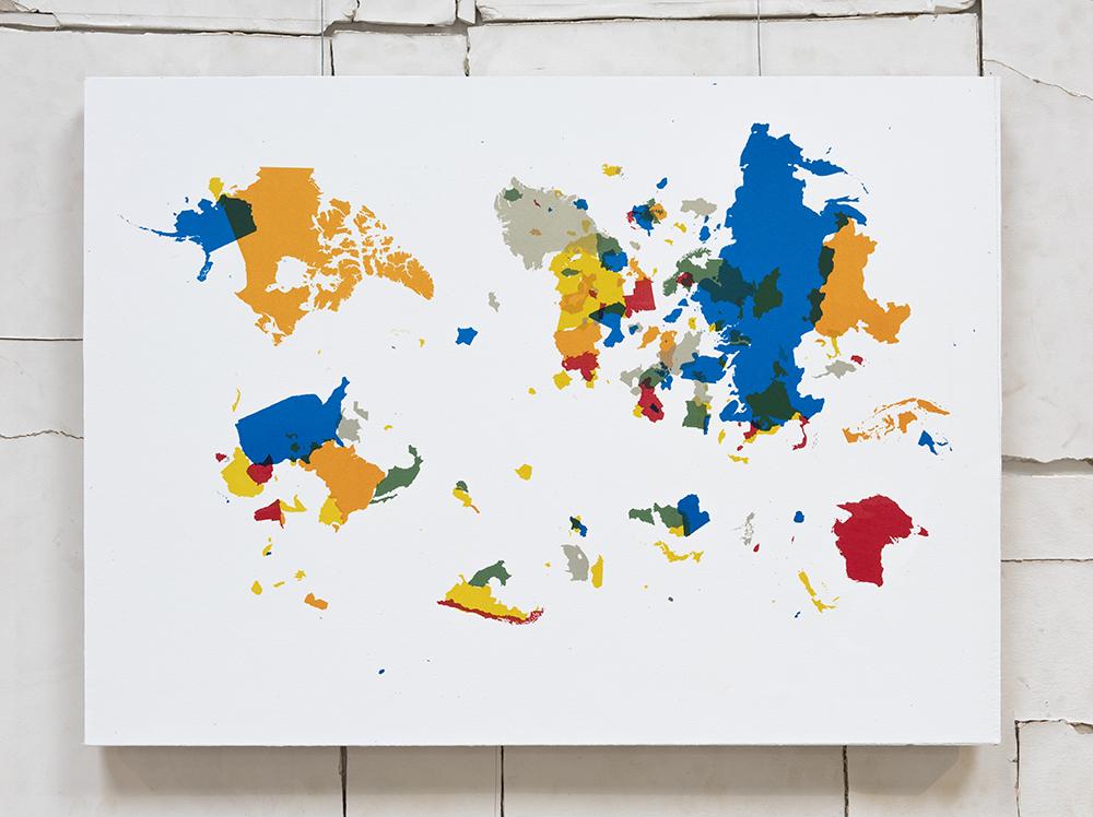 Emilio Chapela. <em>Euroasiaamérica</em>,  2014. Lithograph, 19 3/4 x 27 1/2 inches (50.2 x 69.9 cm)