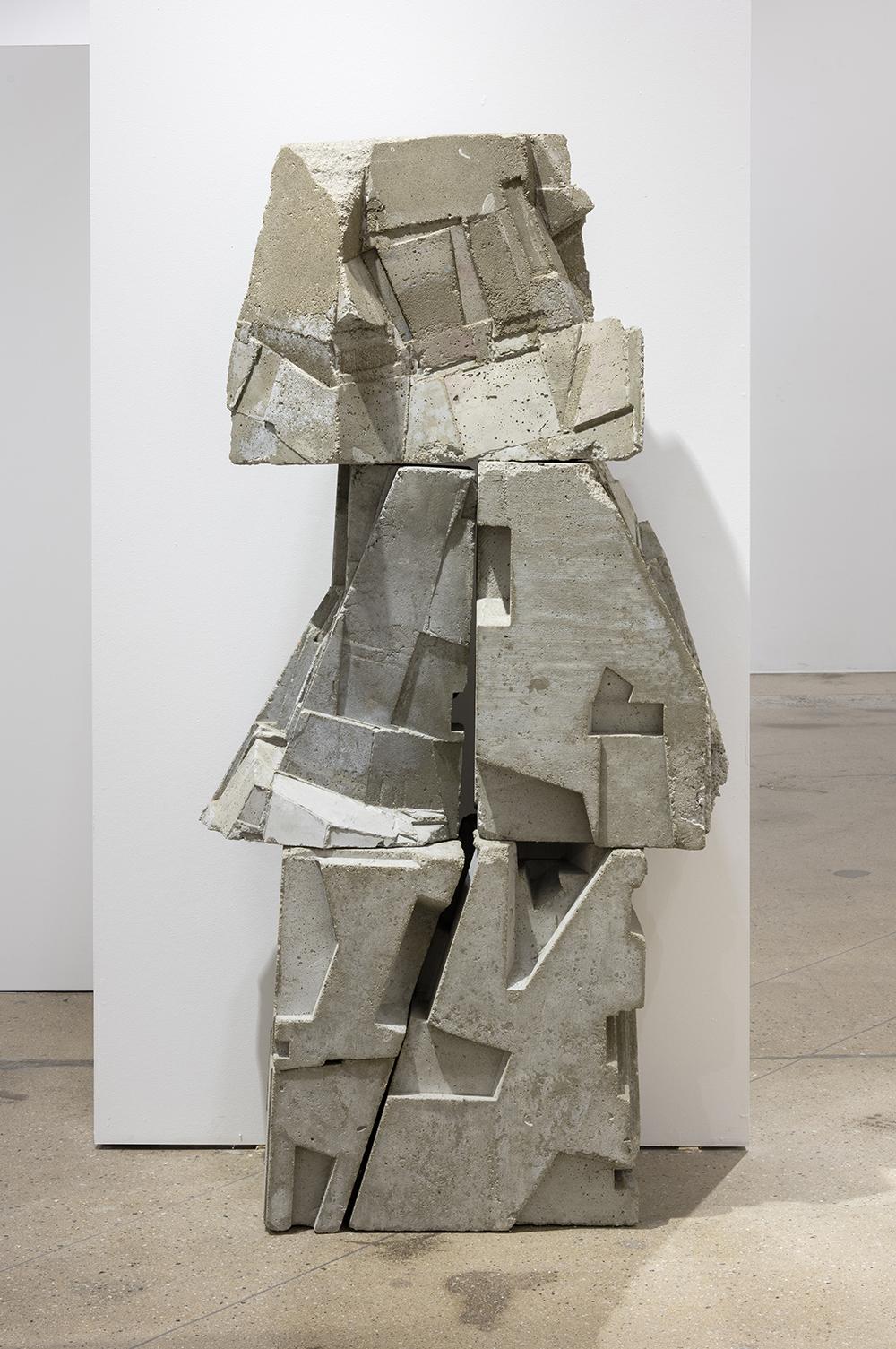 Gustavo Godoy.  <em>Vacant Marker</em>, 2017. Cast concrete, 66 x 28 1/2 x 12 inches (167.6 x 72.4 x 30.5 cm)