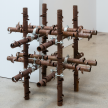 Luciana Lamothe. <em>Untitled</em>, 2017. Iron pipes and couplers, 32 x 32 x 32 inches (81.3 x 81.3 x 81.3 cm) thumbnail