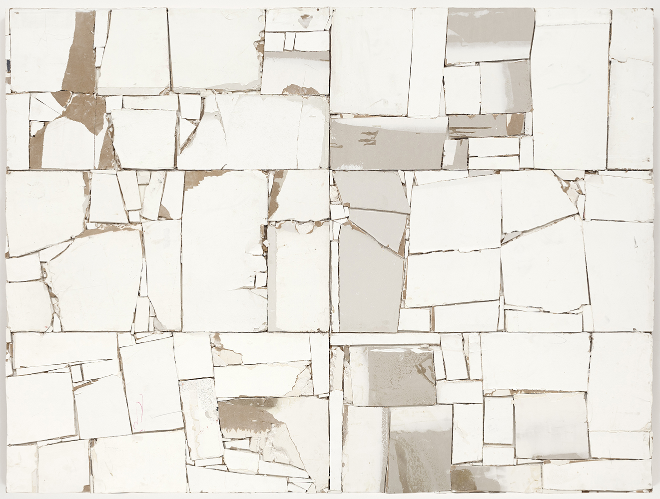 Pablo Rasgado. <em>Arquitectura Desdoblada</em>, 2011, 2012, 2015. Drywall and acrylic, 72 x 96 inches (182.9 x 243.8 cm)