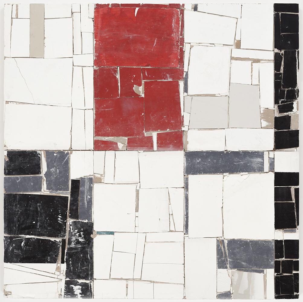 Pablo Rasgado. <em>Arquitectura Desdoblada</em>,  2011, 2012, 2015. Drywall and acrylic, 78 1/2 x 78 1/2 inches (199.4 x 199.4 cm)