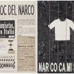 Camilo Restrepo. <em>El Bloc Del Narco #9</em>, 2016. Ink, water-soluble wax pastel, tape, glue, newspaper clippings, staples, plastic bag, paper dust and saliva on paper, 16 1/2 x 24 inches (41.9 x 61 cm) thumbnail