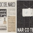 Camilo Restrepo. <em>El Bloc Del Narco #15</em>, 2016. Ink, water-soluble wax pastel, tape, glue, newspaper clippings, staples, plastic bag, paper dust and saliva on paper, 16 1/2 x 24 inches (41.9 x 61 cm) thumbnail