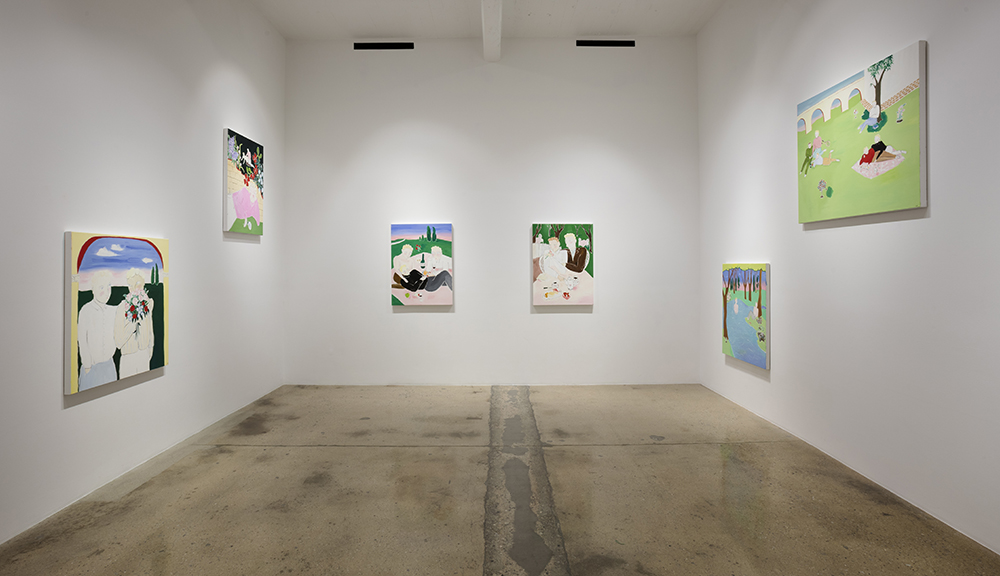 Claire Milbrath. <em>Crome Yellow</em>. Installation view, Steve Turner, 2017