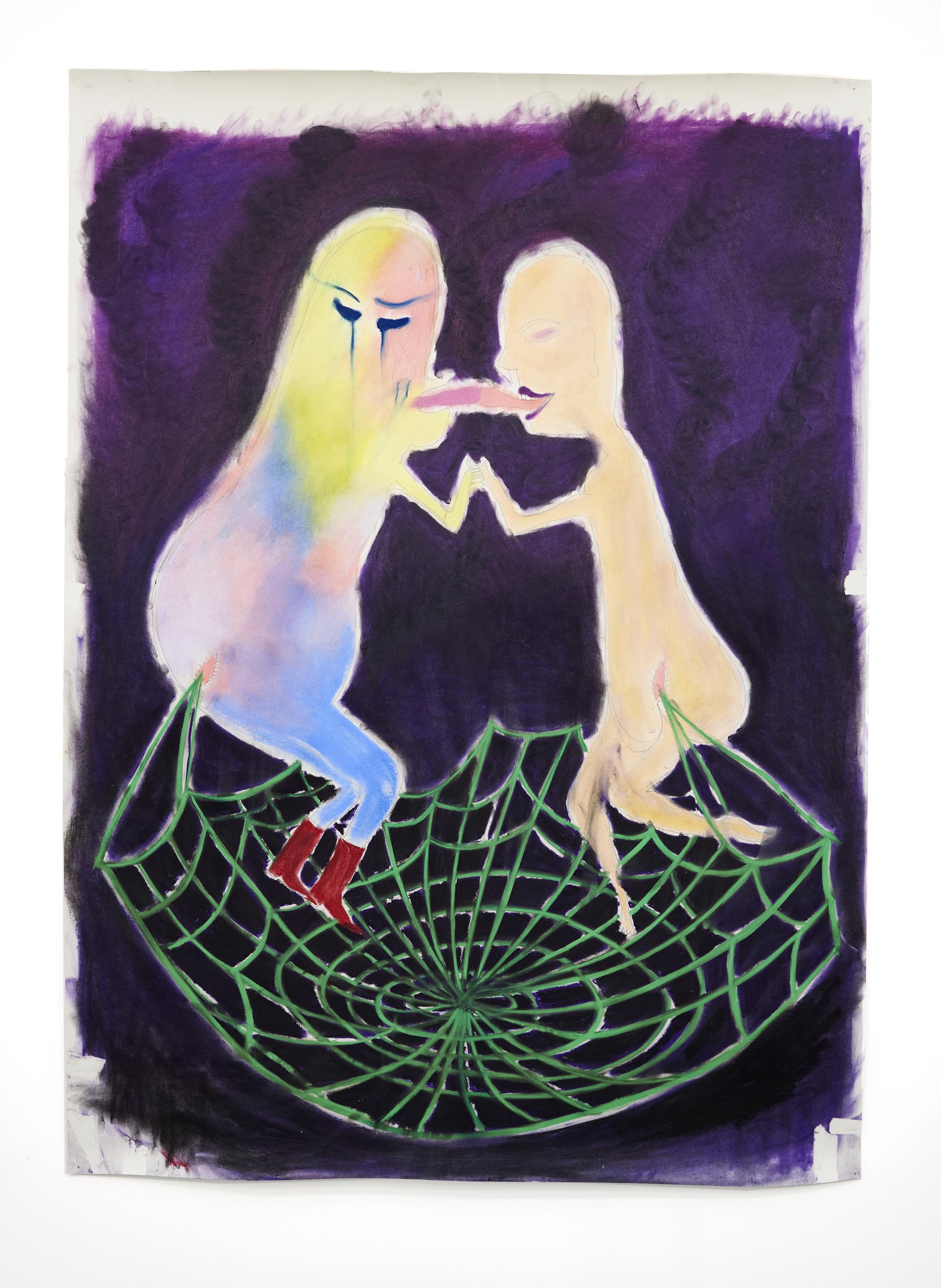 Nicanor Araoz. <em>Untitled</em>, 2017. Soft pastels on paper, 67 x 48 inches  (170.2 x 121.9 cm)