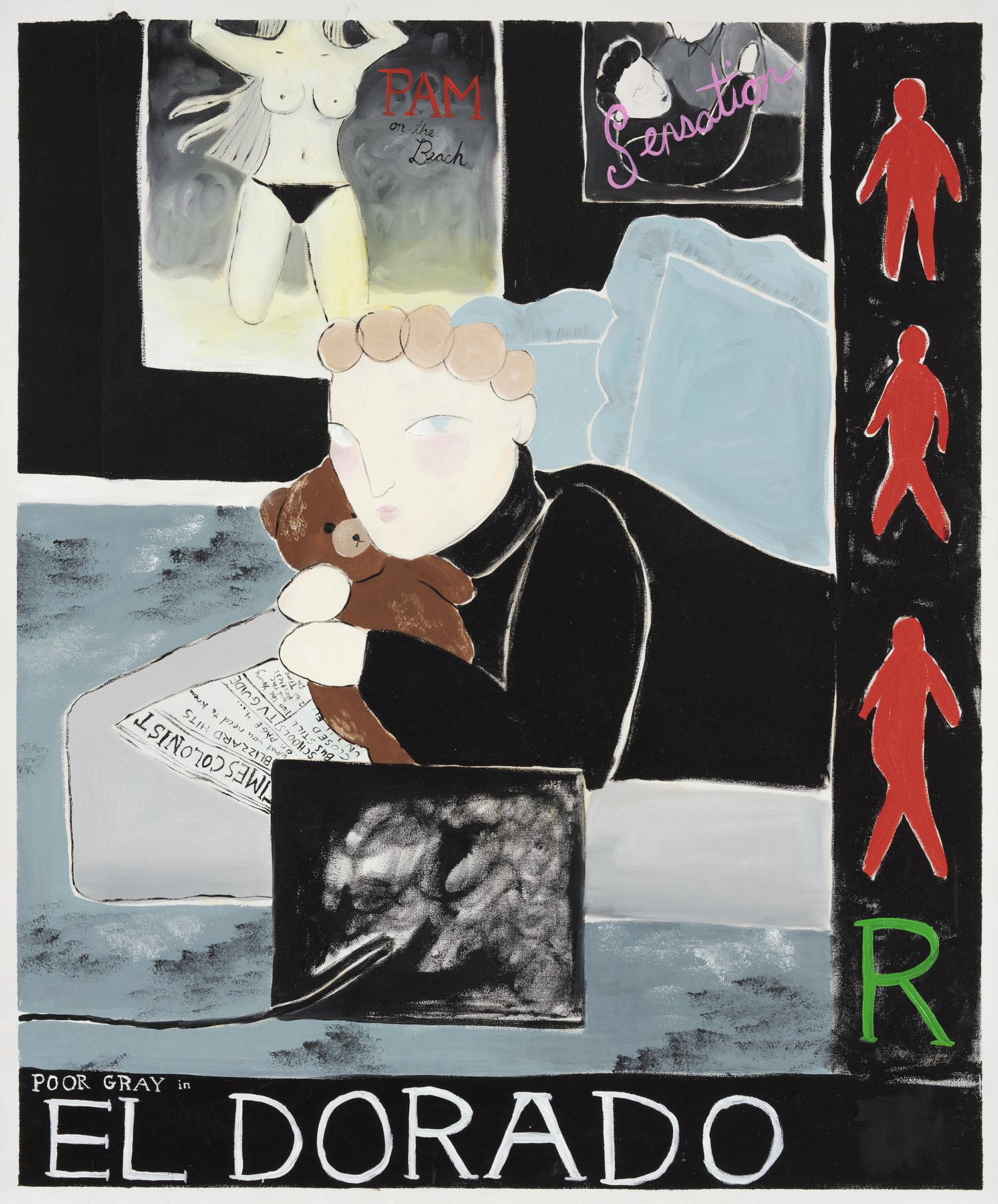 Claire Milbrath. Black Eldorado, 2018. Oil on canvas. 34 x 28 1/2 inches (86.4 x 72.4 cm)