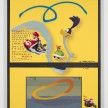Yung Jake. <em>roadrunner (w mario, princess peach, diddy kong and wolverine)</em>, 2017. UV print, spray paint, tape and ink on powder coated steel, found metal and monitor, 51 x 40 1/2 inches  (129.5 x 102.9 cm) thumbnail