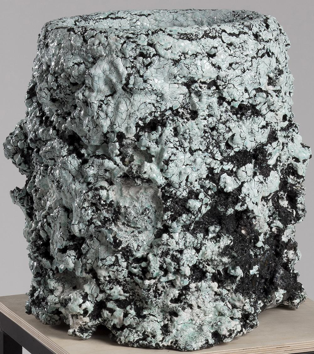 Tony Marsh. <em>Crucible Furiosa  5</em>, 2018. Ceramic, 15 x 13 x 13 inches (38.1 x 33 x 33 cm)