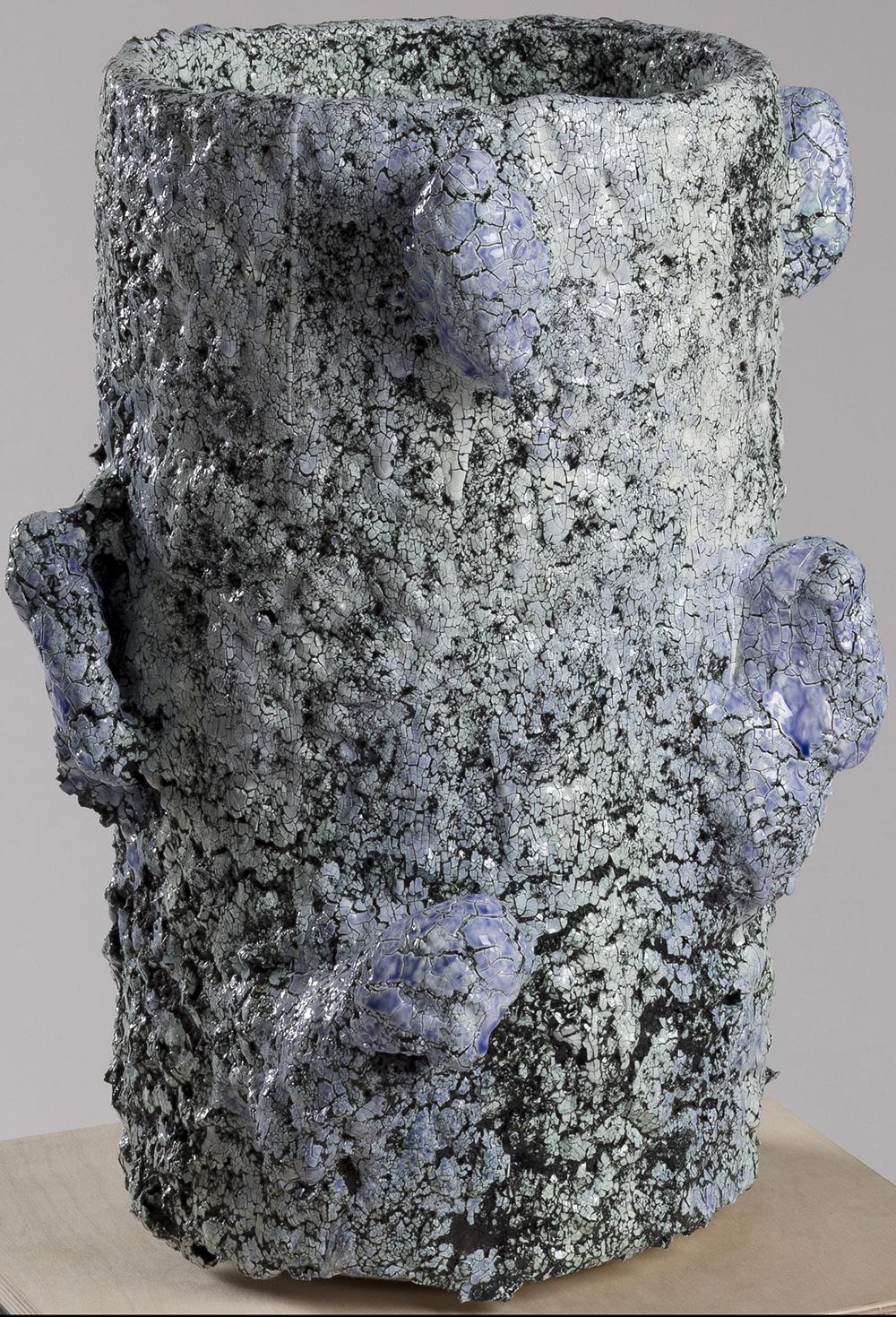 Tony Marsh. <em>Crucible Furiosa  2</em>, 2018. Ceramic, 19 x 16 x 16 inches (48.3 x 40.6 x 40.6 cm)