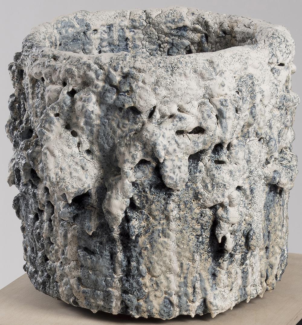 Tony Marsh. <em>Crucible Furiosa 1</em>, 2018. Ceramic, 14 x 17 x 17 inches (35.6 x 43.2 x 43.2 cm)