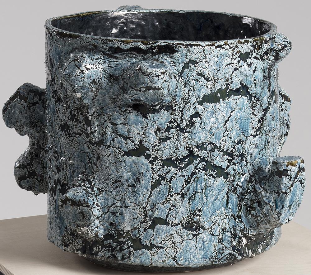 Tony Marsh. <em>Crucible Furiosa  3</em>, 2018. Ceramic, 16 x 21 x 21 inches (40.6 x 53.3 x 53.3 cm)