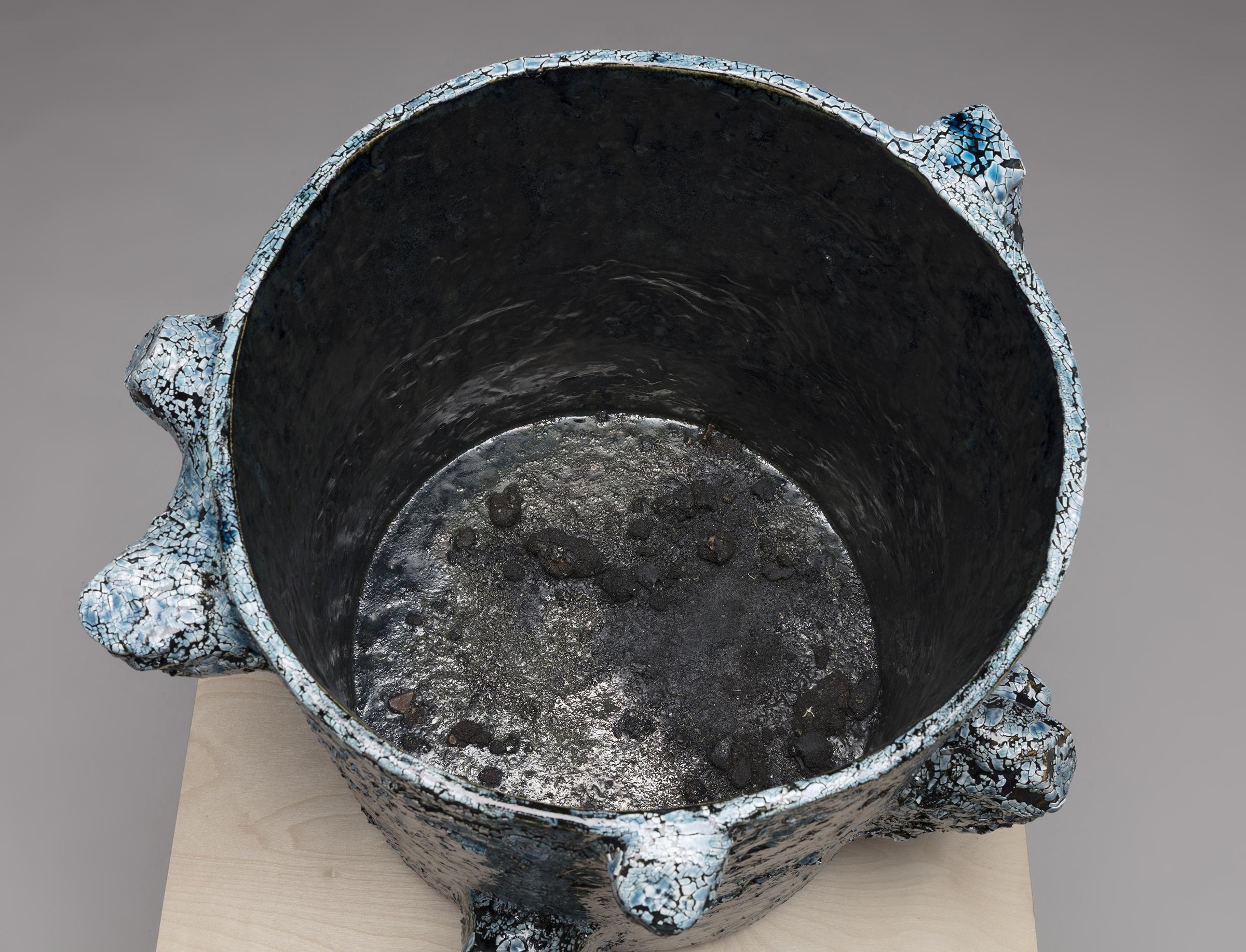 Tony Marsh. <em>Crucible Furiosa  3</em>, 2018. Ceramic, 14 x 17 x 17 inches (35.6 x 43.2 x 43.2 cm) Detail