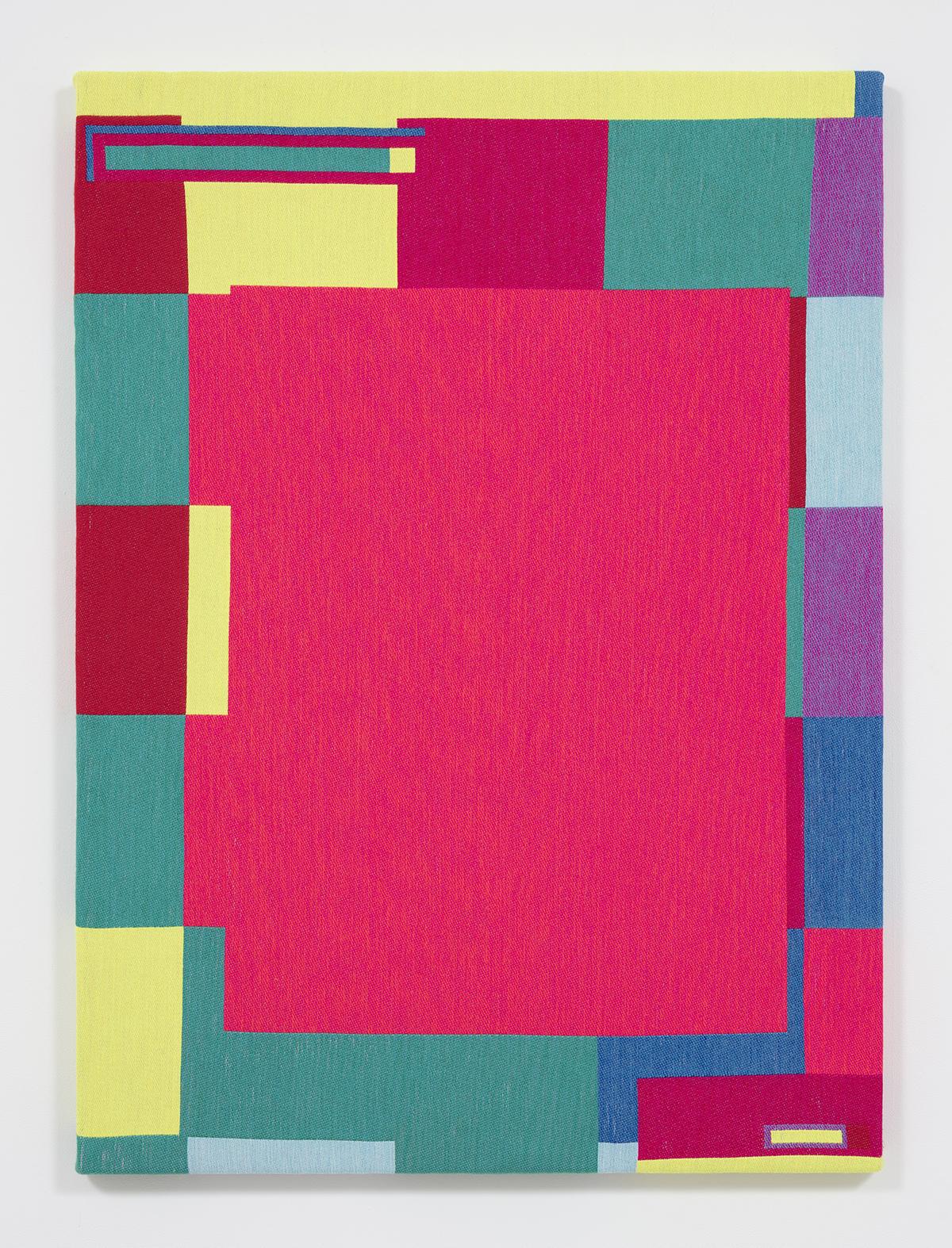 Rafael Rozendaal. <em>Abstract Browsing 17 05 01 (Waze)</em>, 2017. Jacquard weaving, 56 3/4 x 41 1/2 inches  (144.1 x 105.4 cm)