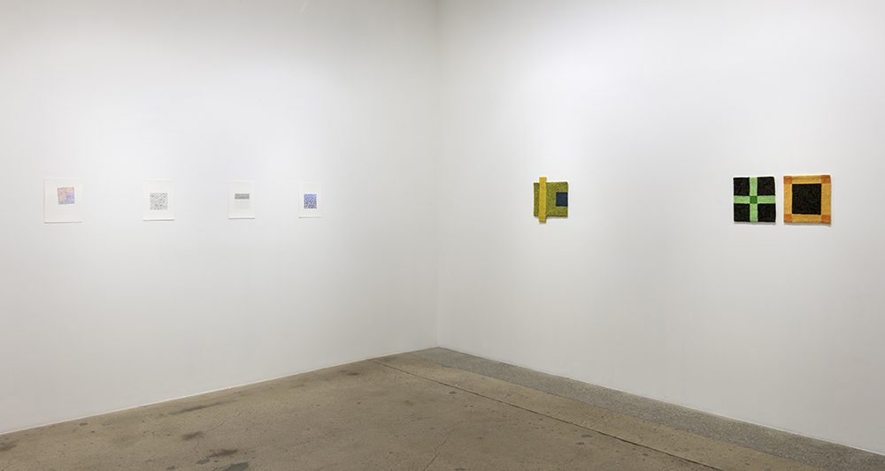 <em>Through-Line: Drawing and Weaving by 19 Artists</em>. Installation view, Steve Turner, 2018